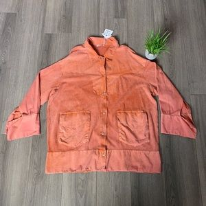 Zara Washed Dress In an orange/pink color Large